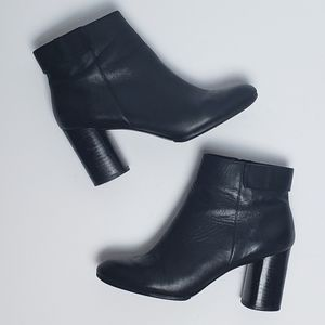 Zara Woman Leather Ankle Boot